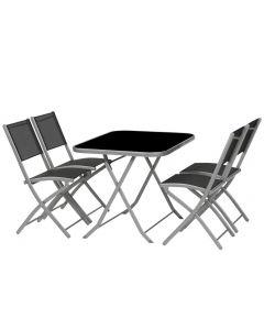 Balkongarnitur Kalua 1 Tisch 110x75, 4 Sessel